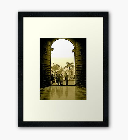 A View from La Catedral de Lima Framed Print