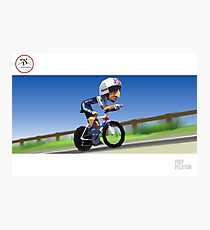 #PolyPeloton : Bradley Wiggins wins gold Photographic Print