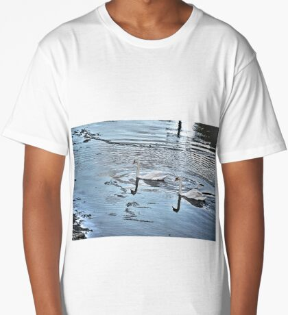 Swan Tranquility !  (interesting info in description) Long T-Shirt
