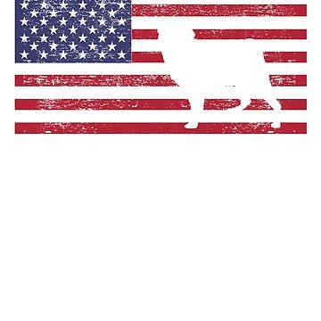 American Pug USA Flag Design for Pug Lovers by breidbe
