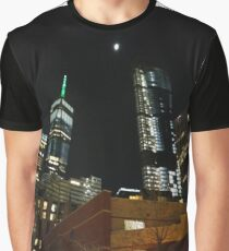 Building, Skyscraper, New York, Manhattan, Street, Pedestrians, Cars, Towers Graphic T-Shirt