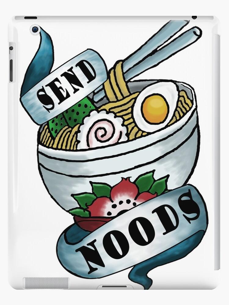 Send Noods Funny Tattoo Flash Noodle Pun Design\