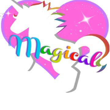 Radiant Magical Rainbow Unicorn by LouisianaLady