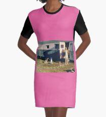 Divine Pink Flamingos Graphic T-Shirt Dress