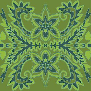 Green Orchids by Nettieliz
