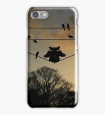 Pig on a Wire iPhone Case/Skin
