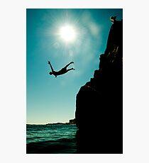 Cliffdiver Photographic Print