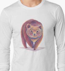 Colorful Bear, watercolor art Long Sleeve T-Shirt