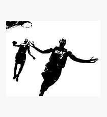 Dwayne Wade and LeBron  Photographic Print