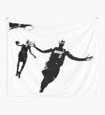 Dwayne Wade and LeBron  Wall Tapestry