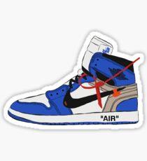 Jordan 1 Off-White (Blue) Sticker