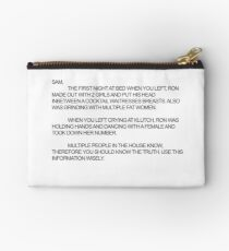 Jersey Shore--The Note Studio Pouch