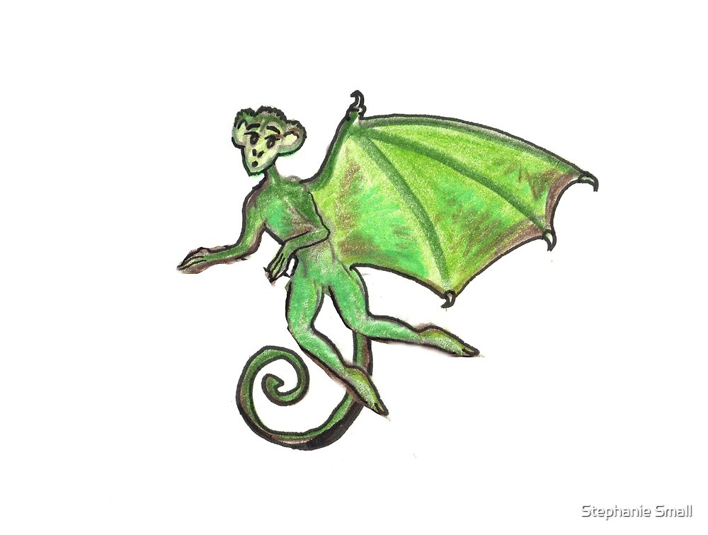 Napa Valley Rebob Flying Monster Wings winged monkey cryptid cryptozoology rebobs family nest by Stephanie Small