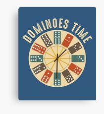 Funny Dominoes Shirt Vintage Retro Clock Graphic Canvas Print