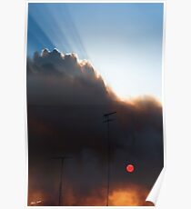 """Bush Fire Sunset""Anglesea,Great Ocean Road,Australia. Poster"