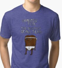 chamomile tea: regular show. Tri-blend T-Shirt