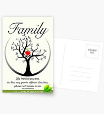 Family Greeting Card Postcards