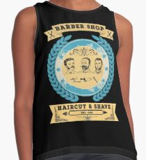 Barber Shop - Haircut and Shave - Vintage Style Contrast Tank