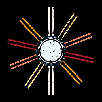 Retro Musician Drumsticks Drummer drummer by anziehend