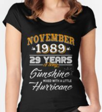 29th Birthday Gifts - 29th Wedding Anniversary Memorable Gifts - November 1989 Women's Fitted Scoop T-Shirt