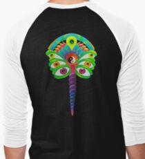 Psychedelic Flutterby Men's Baseball ¾ T-Shirt