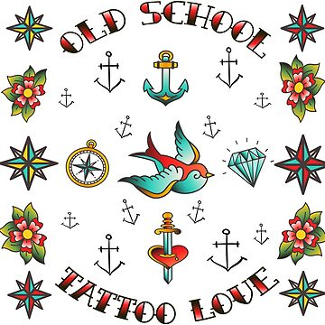 tatoo old school tee shirt white trending cute saying by mounir1239
