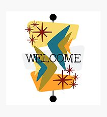 Mid Century Modern Welcome Photographic Print