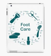 Tools for pedicure. Personal care. iPad Case/Skin