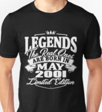 Real legends are born in may 2001 Slim Fit T-Shirt