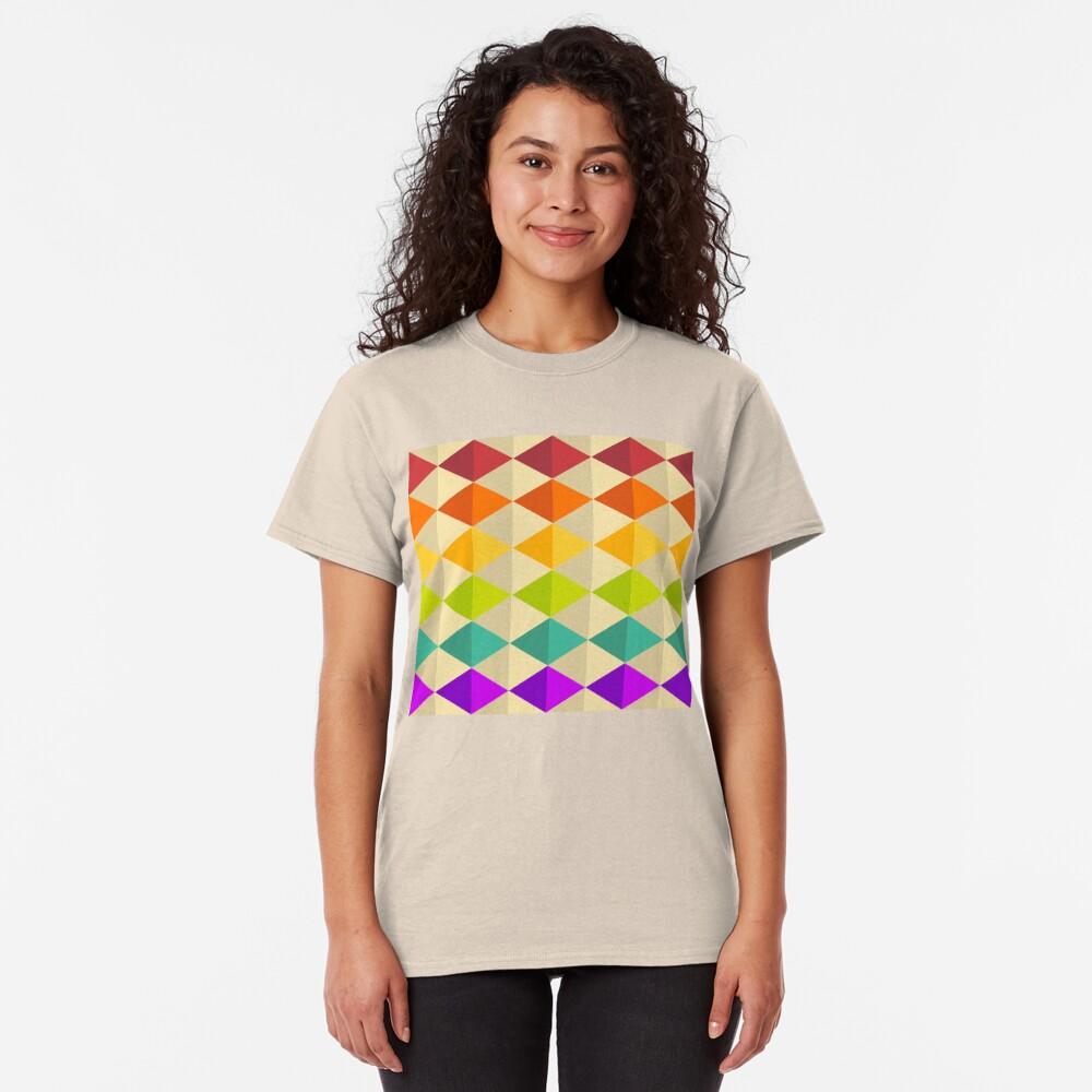 Geometric Pattern: Split Diamond: Rainbow Classic T-Shirt