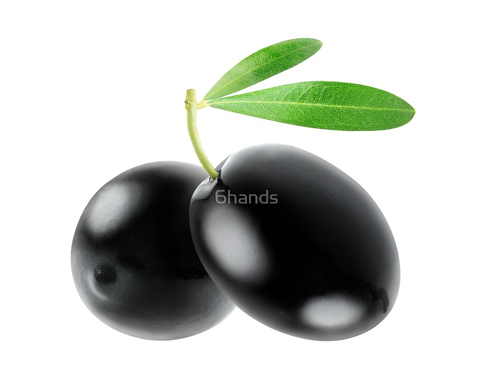 Two black olives by 6hands