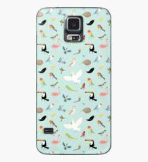 Vogel Muster Hülle & Klebefolie für Samsung Galaxy
