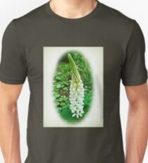 White Lupine Flowers Unisex T-Shirt