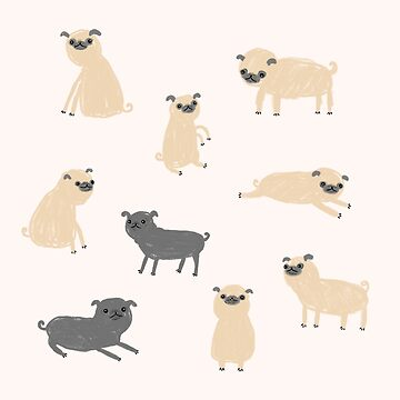 Pug Pattern  by SophieCorrigan