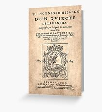Cervantes, Don Quijote de la Mancha 1605 Tarjeta de felicitación