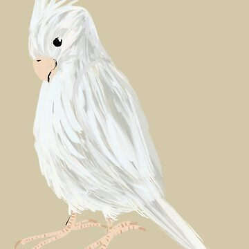 White Cockatiel painting by Extreme-Fantasy