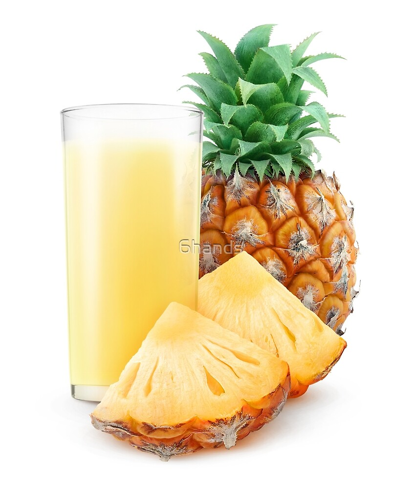 Glass of pineapple juice by 6hands