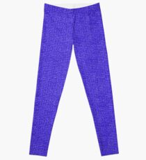 Blue Knit Leggings