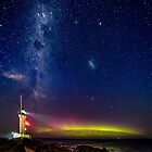 Pt Lonsdale Milky Way & Aurora Australis by Russell Charters