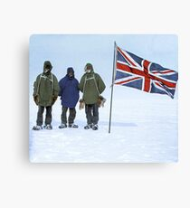 Photograph of the Nimrod Expedition (1907-09) to the Antarctic, led by Ernest Shackleton. Canvas Print