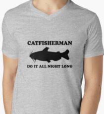 Catfisherman Do It All Night Long Men's V-Neck T-Shirt