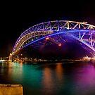 Vivid Bridge panorama by Erik Schlogl