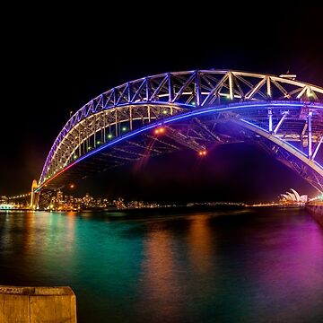 Vivid Bridge panorama by eschlogl