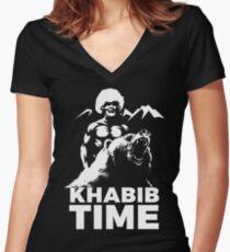 KHABIB TIME Women's Fitted V-Neck T-Shirt
