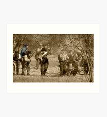 civil war re-enactment Art Print