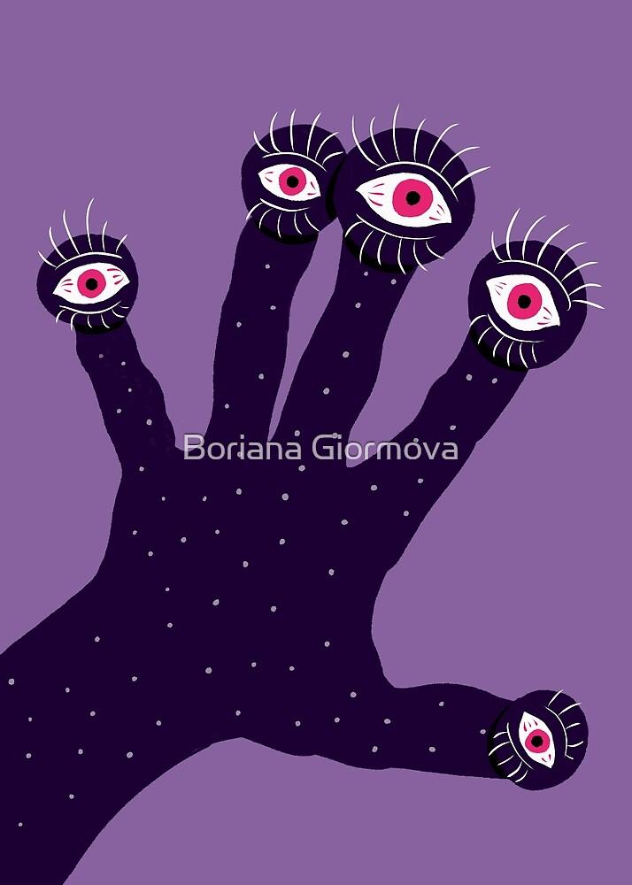 Weird Hand With Watching Eyes by Boriana Giormova