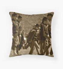 civil war re-enactment Throw Pillow