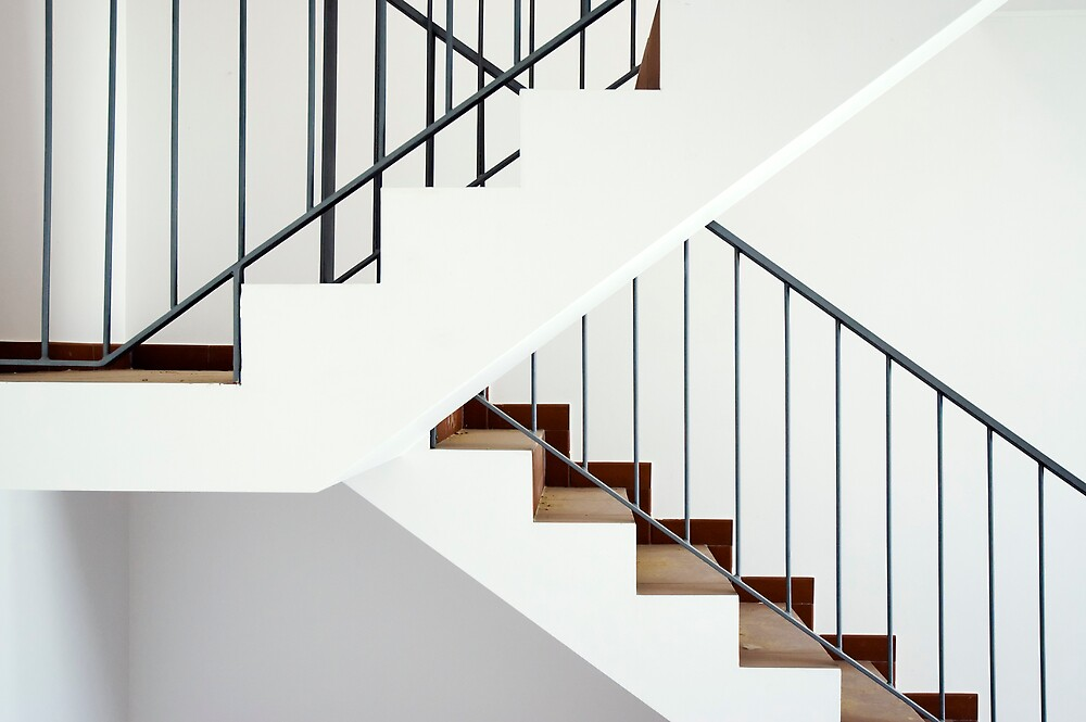 Flight of stairs in a new house by mrfotos