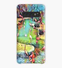 Neural Flamingos Case/Skin for Samsung Galaxy
