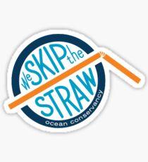 Skip the straw sticker Sticker